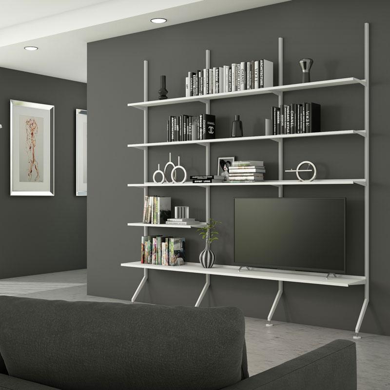 Libreria Pallucco Continua modulare bianca da salotto quadrata
