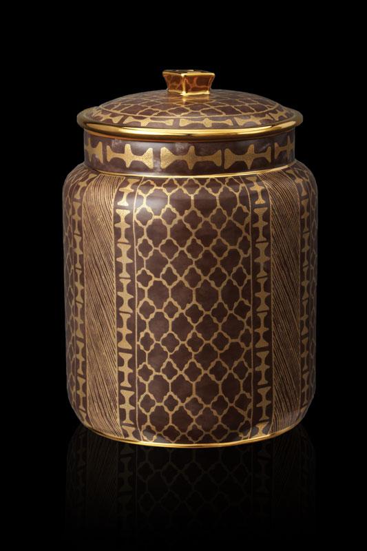 Vaso contenitore medio Fortuny Ashanti marrone