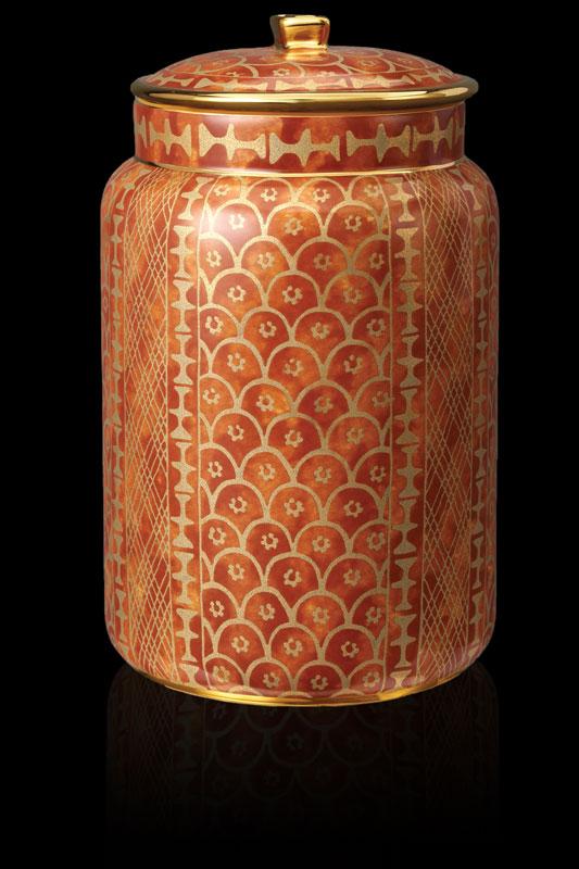 Vaso contenitore grande Fortuny Ashanti arancio