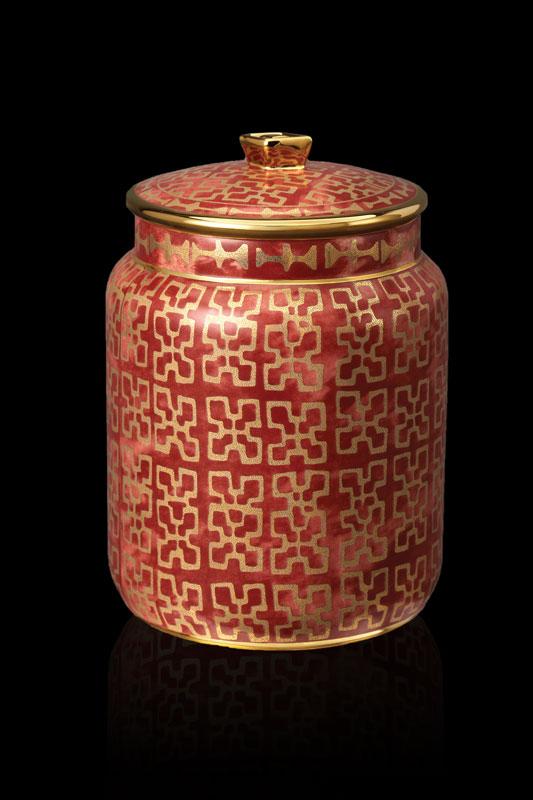Vaso contenitore piccolo Fortuny Ashanti rosso