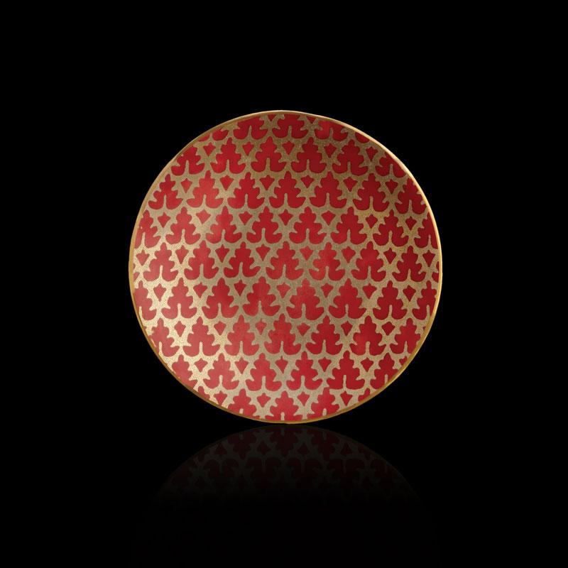 Set piatti canapé Fortuny Murillo rosso (4 pezzi)