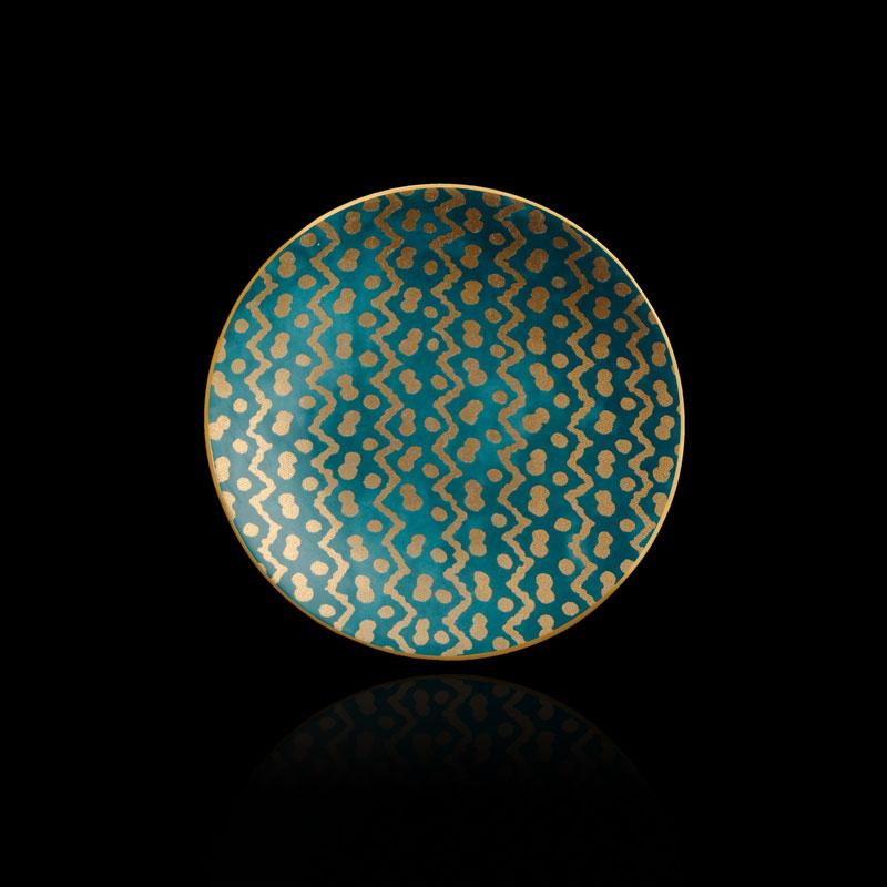 Set piatti canapé Fortuny Tapa blu ottanio (4 pezzi)