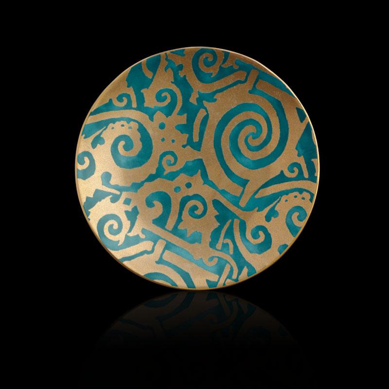 Set piatti da dessert Fortuny Maori blu ottanio (4 pezzi)