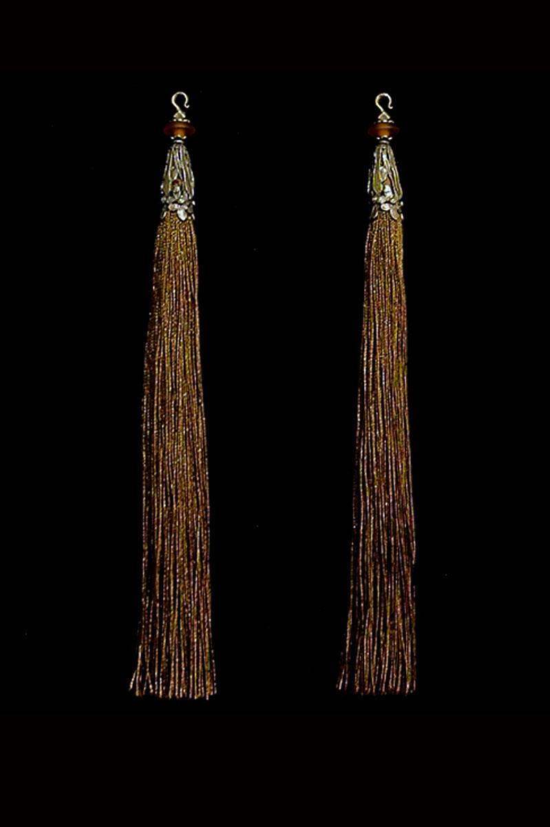 Venetia Studium couple of chocolate brown hook tassels