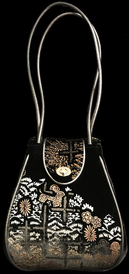 Fortuny Moretta printed velvet bag