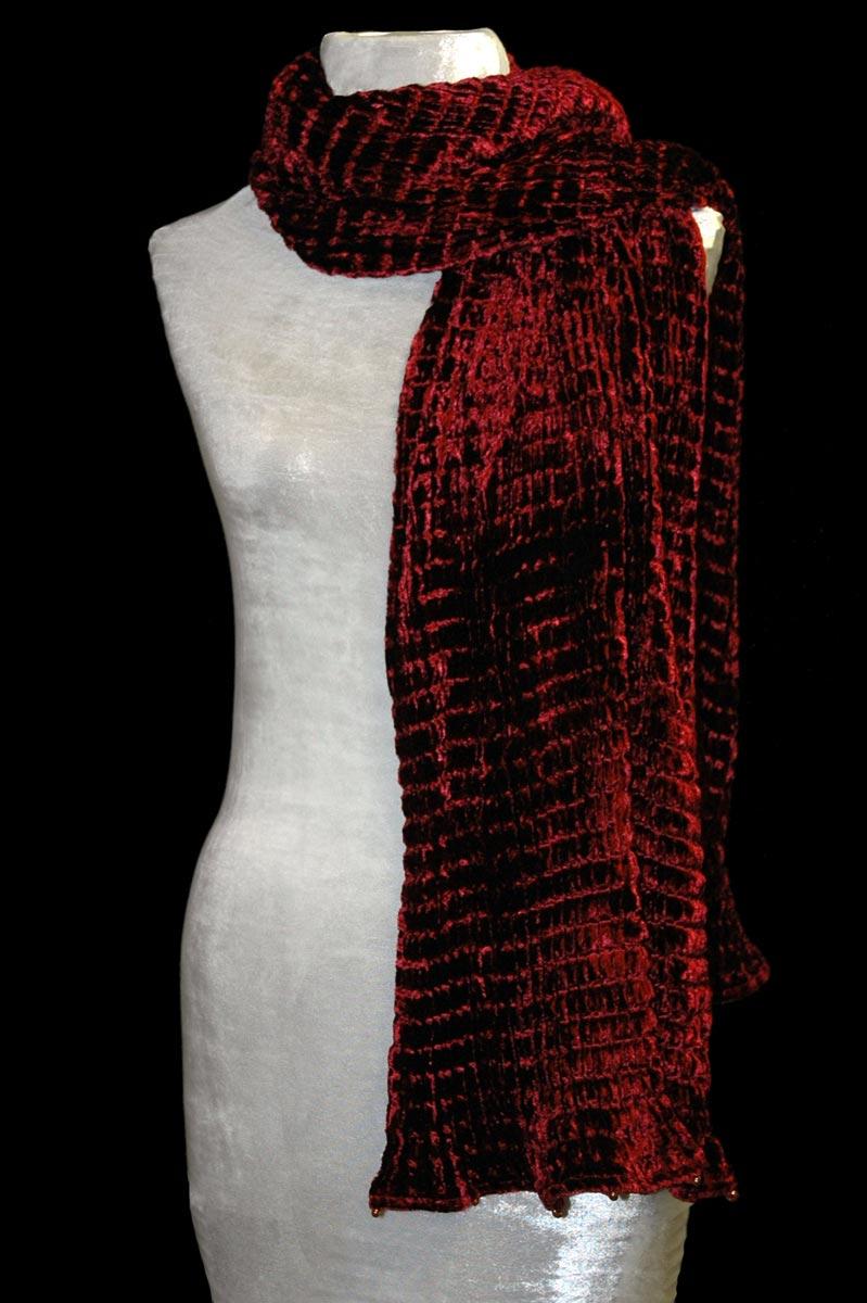 Sciarpa Fortuny in velluto plissettato