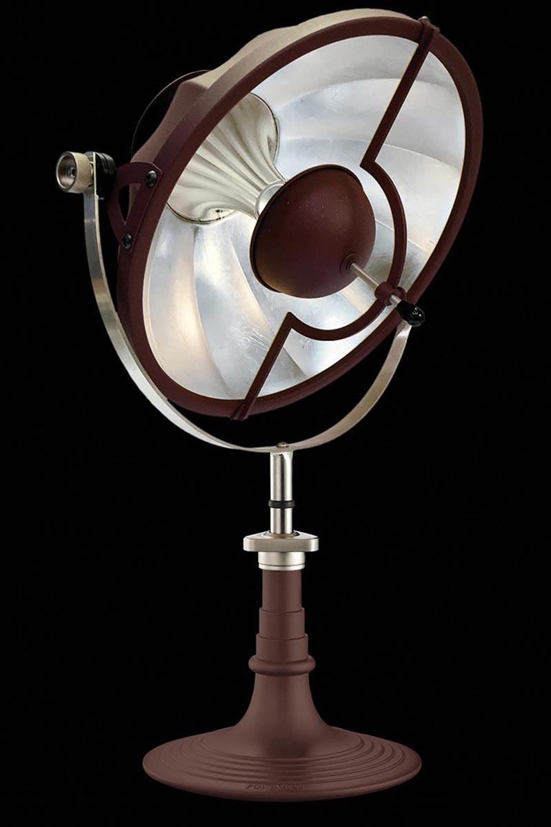 Lampada da tavolo Armilla rossa e foglia argento