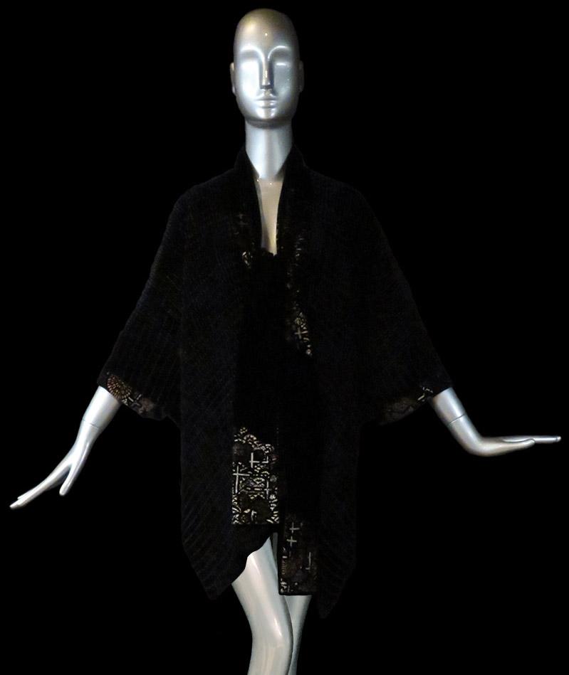 Fortuny pleated velvet cape