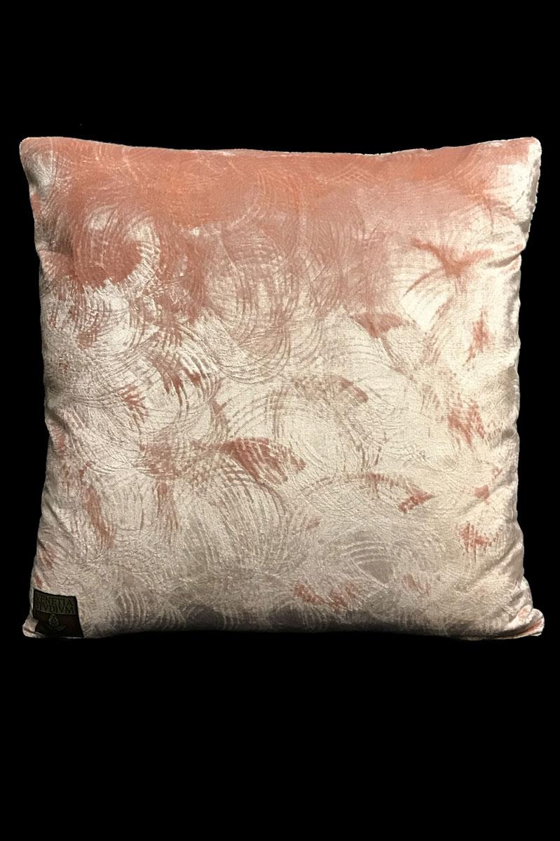 Cuscino quadrato Venetia Studium in velluto stampato rosa