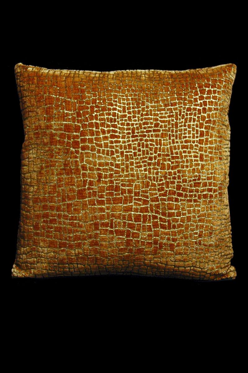 Cuscino Venetia Studium quadrato Mosaico in velluto caramello stampato