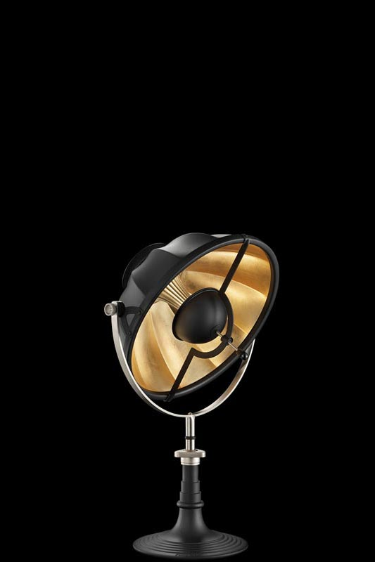 Fortuny Armilla 41 table lamp black and gold leaf