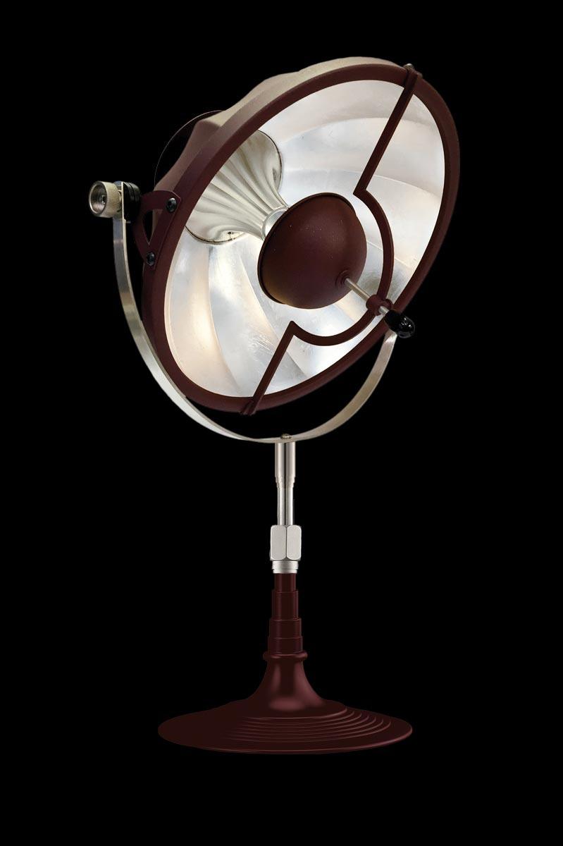 Lampada da tavolo Fortuny Armilla 32 rossa e foglia argento