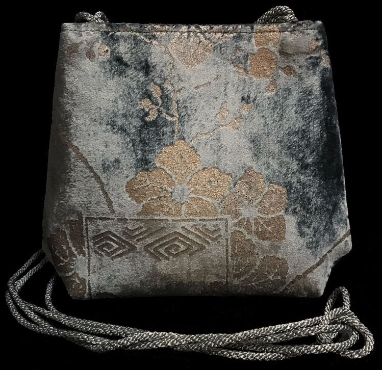 Fortuny Gioia hand printed velvet bag