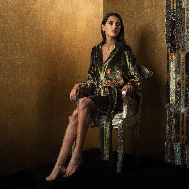 Kimono Isabel in velluto stampato