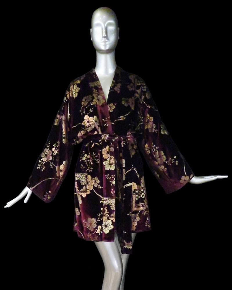 Kimono Fortuny Isabel in velluto stampato