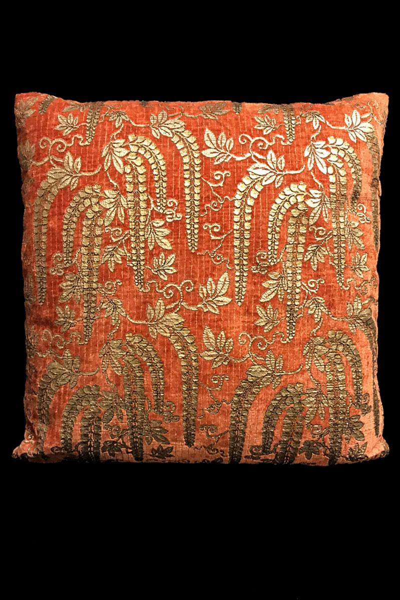 Cuscino Venetia Studium quadrato Glicine in velluto stampato